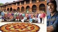 മേമുണ്ട ഹൈസ്കൂളിലെ അധ്യാപകർ ഓണമാഘോഷിക്കുന്നത് നാടകകൃത്തിനെ ചേർത്തു പിടിച്ച്