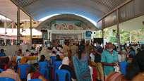 കോവിഡ് മാനദണ്ഡങ്ങള് ലംഘിച്ച് അദാലത്ത്