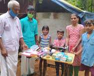 സിന്ധുവിനും കുടുംബത്തിനും സഹായഹസ്തം; സഹായവുമായെത്തിയത് ബിജെപിയും സേവാഭാരതിയും