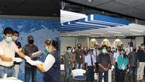 ഹൗസ് കീപ്പിങ്ങ്, സുരക്ഷാ ജീവനക്കാർക്ക്  ഓണക്കിറ്റുകൾ സമ്മാനിച്ച് യുഎസ് ടി  ഗ്ലോബൽ