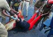 മഹിളാ മോർച്ച കമ്മീഷണർ ഓഫീസ് മാർച്ച്
