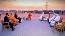 അബുദാബിയിലെ ഹൈന്ദവ ക്ഷേത്ര നിർമാണ പുരോഗതി വിലയിരുത്തി യുഎഇ മന്ത്രി, ക്ഷേത്രം നിര്മിക്കുന്നത് അക്ഷർധാം മാതൃകയിൽ