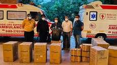 അമേരിക്കന് ഹിന്ദുചാരിറ്റി സംഘടനയുടെ കൊവിഡ് സഹായം ഇന്ത്യയിലെത്തി; 200 ആശുപത്രികളിൽ വിതരണം ചെയ്യും
