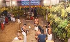 നവരാത്രിയോടനുബദ്ധിച്ച് ഊരകം ക്ഷേത്രത്തിൽ നടന്ന കുലവാഴവിതാനം