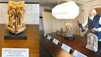 മടങ്ങിവരുന്ന മോദിയ്ക്ക് 11ാം നൂറ്റാണ്ടിലെ സവിശേഷമായ 157 പുരാവസ്തുക്കള് തിരിച്ചുനല്കി അമേരിക്ക