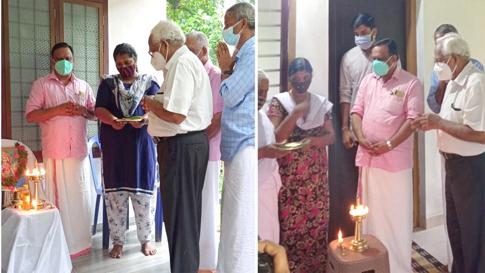 സേവാഭാരതി നിര്മ്മിച്ച പേരാവൂര് മണ്ഡലത്തിലെ  രണ്ട് വീടുകളുടെ താക്കോല് ദാനം നടന്നു